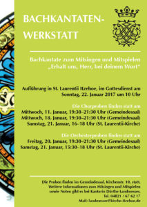 Plakat 2017 Bachkantatenwerkstatt